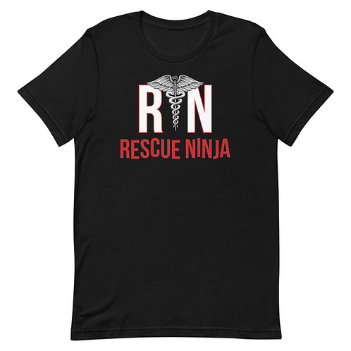 RN Rescue Ninja Funny Nurse Unisex T-Shirt