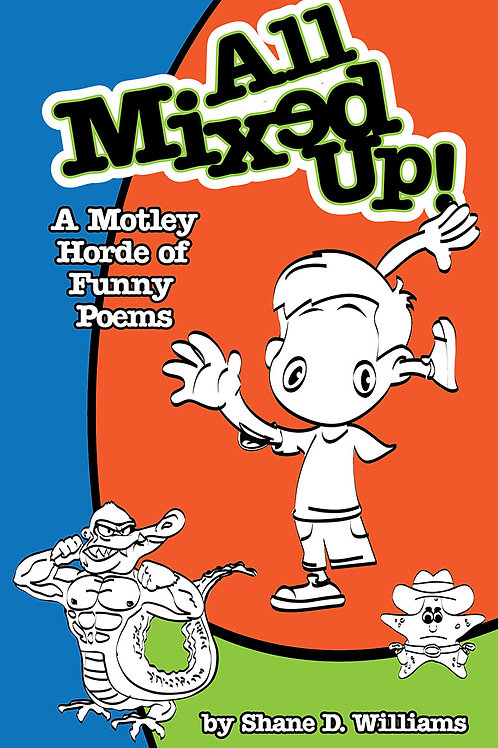 Funny Poetry Book for Kids. All Mixed Up Front Cover
