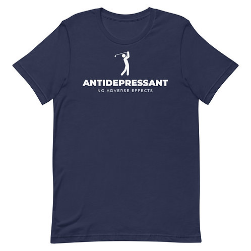 Antidepressant No Adverse Effects Funny Golf T-Shirt