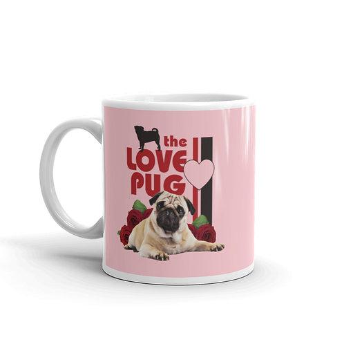 The Love Pug. Funny Pug Mug