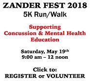 ZANDER FEST 2018 Registration