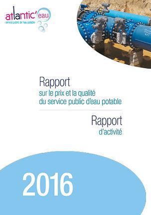 Rapport d'activité d'atlantic'eau réalisé par l'agence édito