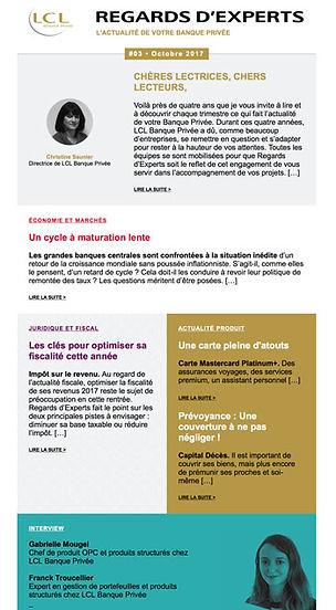 Newsletter Regards d'Experts de LCL Banque Privée rédigée par Édito