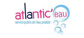 Logo d'Atlantic'eau, syndicat d'alimentation en eau potable de Loire-Atlantique, client de l'agence Édito