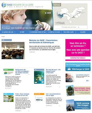 Site Internet du SAGE Estuaire de la loire dont le contenu est écrit par Édito