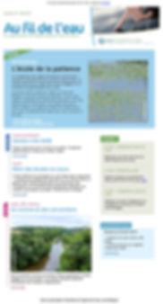 Newsletter Au fil de l'eau du Syloa réalisé par l'agence Édito