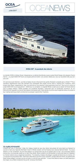 Newsletter Oceanews d'Ocea Yachts