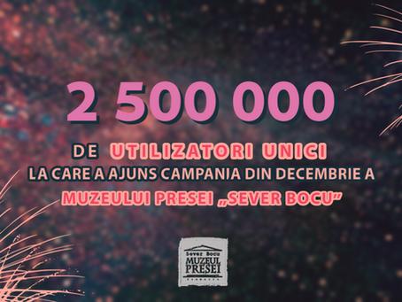 """Statisticile campaniei din decembrie 2020 a Muzeului Presei """"Sever Bocu"""""""