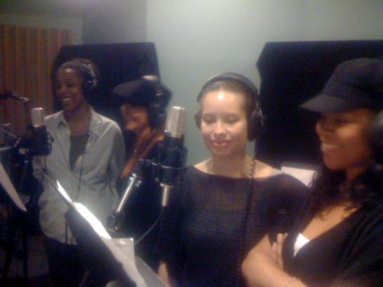Noreen, Brooke, Shelley & Daria in the studio