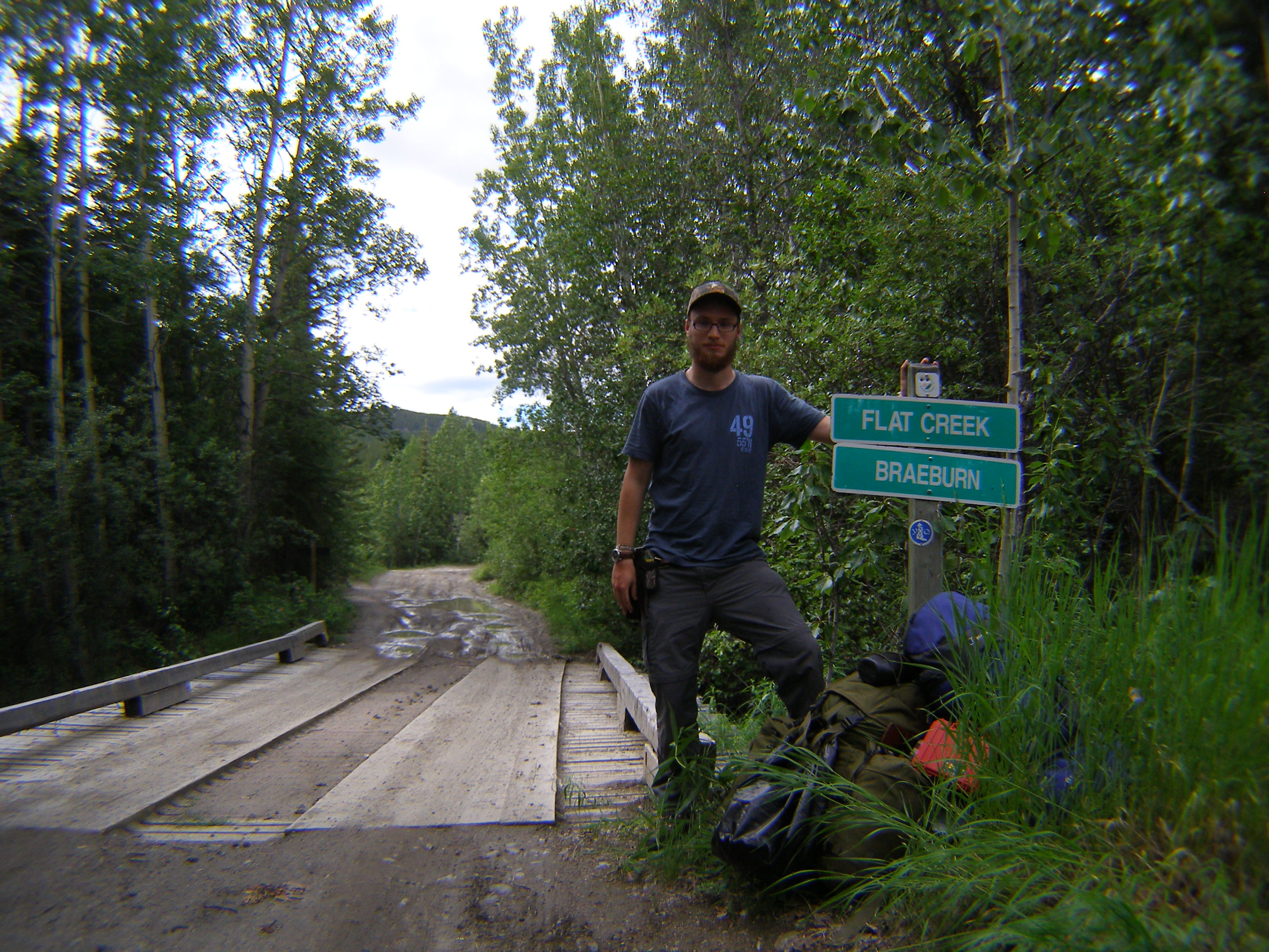Start of the Dawson Overland Trail