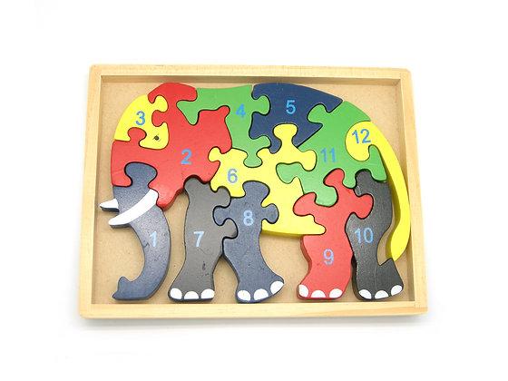 Elephant Jigsaw in Tray