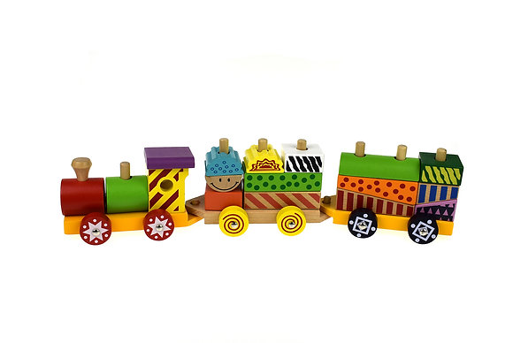 Colourful Block Train