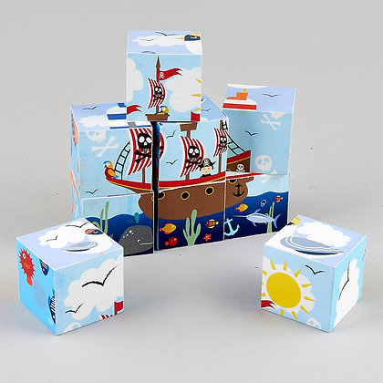 Wooden Blocks - Pirate