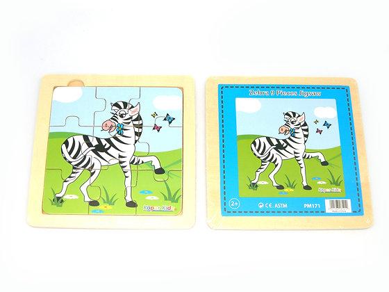 Zebra 9 piece Jigsaw