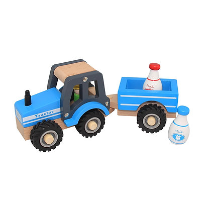 Tractor and Milk Trailer