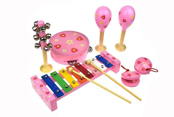 Pink Heart Music Set