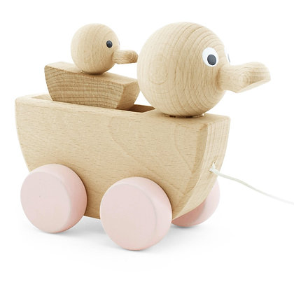Pull Along Toy Duck With Duckling
