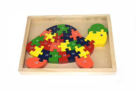 Turtle Jigsaw in Tray