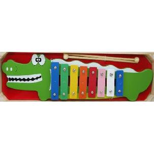 Wooden crocodile xylophone in box