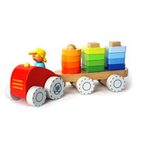 Tractor with Stacking Shapes