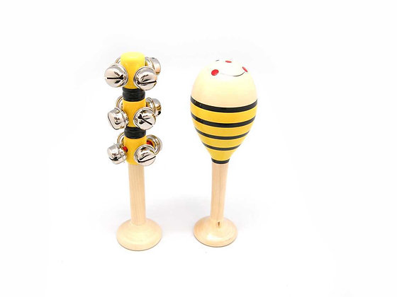 Large Bee Maraca and Bell Set