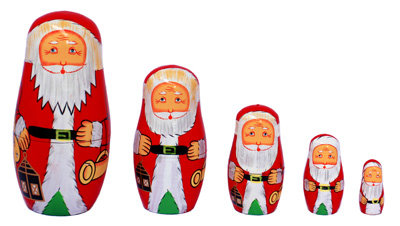 Father Christmas Stacking Doll