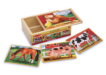 Jigsaw Puzzles in a Box - Farm Animals