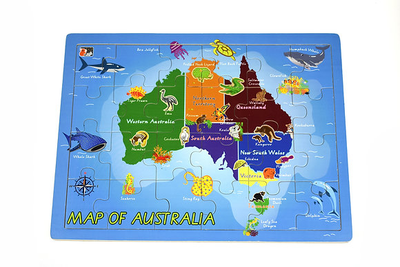 Australian Map Jigsaw