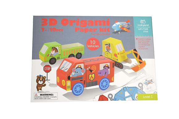 3D Paper Model Vehicles