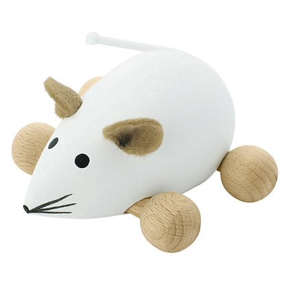 Push Along Mouse - Snowflake