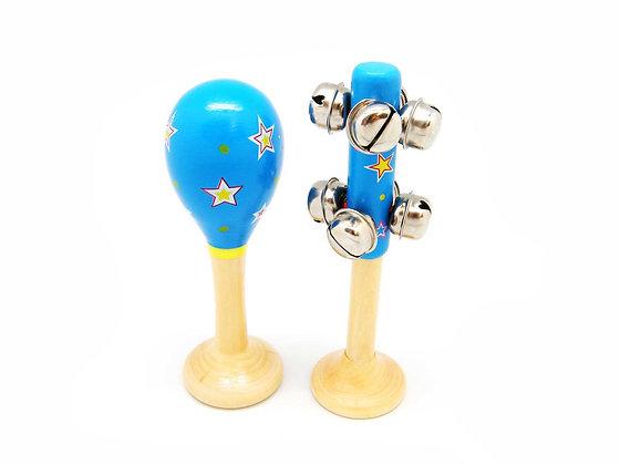 Blue Bells and Maraca Set