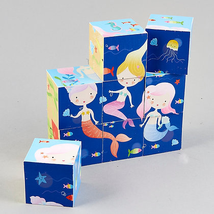 Wooden Blocks - Mermaid