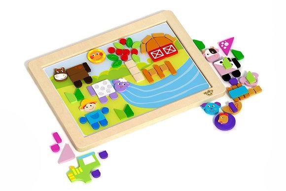 Magnetic Puzzle Board - Farm