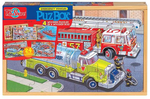 Emergency Vehicles Puzzle Box