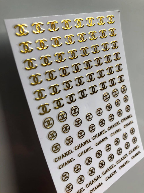 Chanel Stickers GOLD