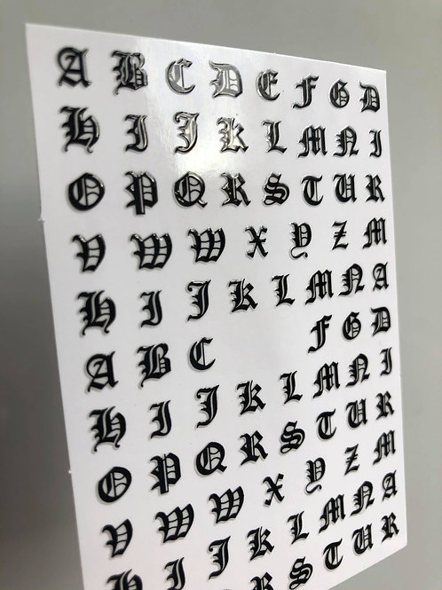 Old English Letter BLACK