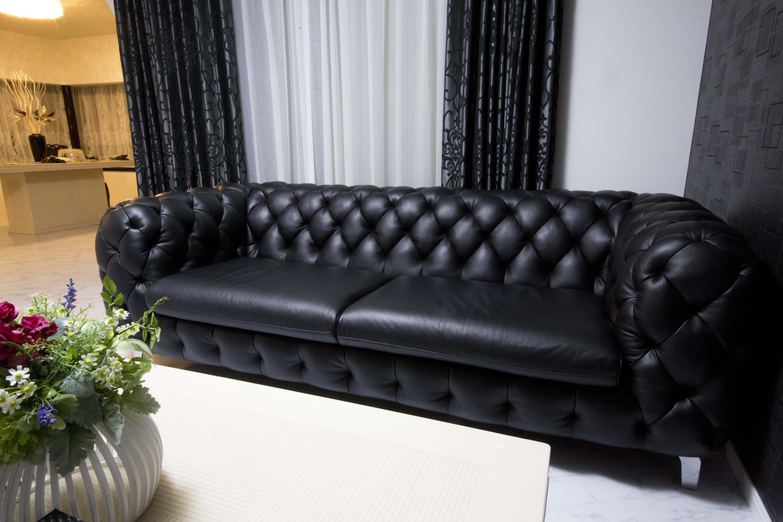 黒3Pソファー