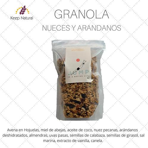 Granola con Nueces y Arándanos (480gr)