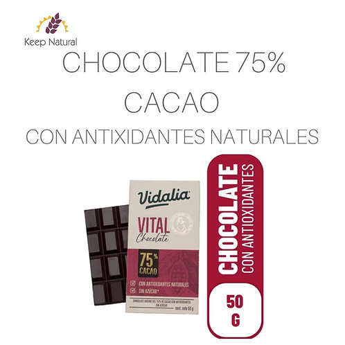 Chocolate 75%  Vidalia 50gr