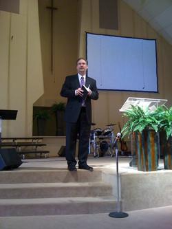 Ty Barker preaching at Cornerstone 2