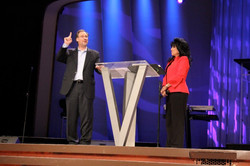 Ty and Debbie Barker preaching at Victory Christian Center 6