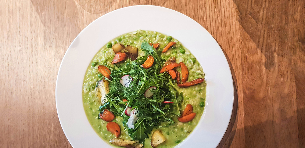 Vegan risotto hotel Windsor