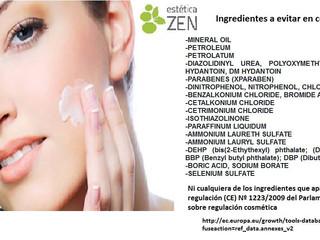 Ingredientes cosméticos que perjudican tu piel