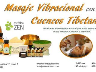 Masaje vibracional con cuencos tibetanos y aceites esenciales