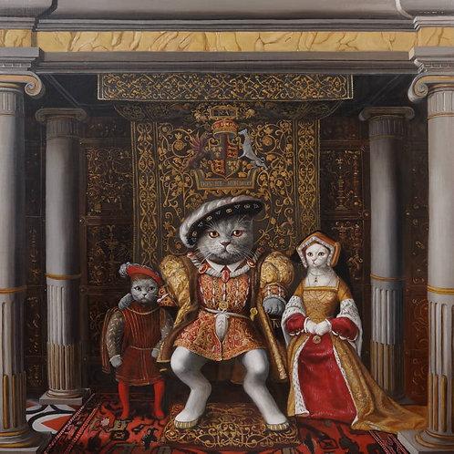 「ヘンリーネコ8世とジェーシーネコ」