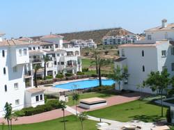 Hacienda Riquelme pool view