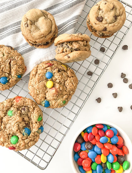 Father's Day Reeses Stuffed M&M and Chocolate Chip Cookie Dough Cookies