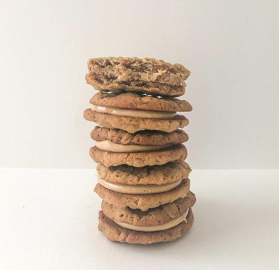 One Dozen Peanut Butter Cookie Sandwiches