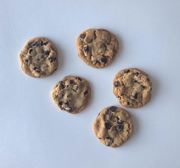 One Dozen Flourless Peanut Butter Chocolate Chip Cookies