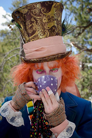 Mad tea party character visits in Las Vegas